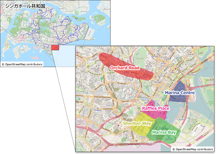 シンガポール地図
